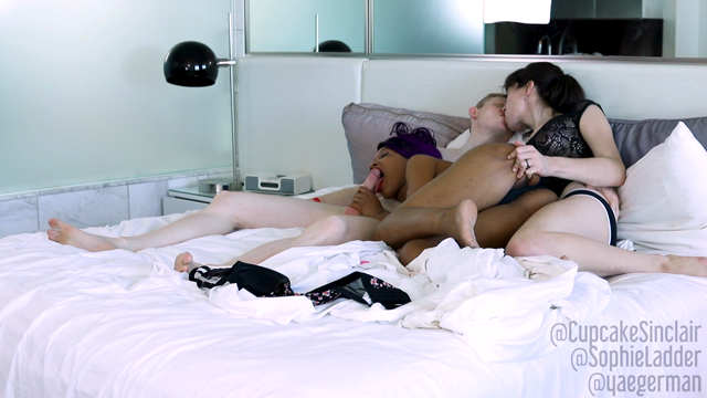 Threesome with Cupcake and Rob